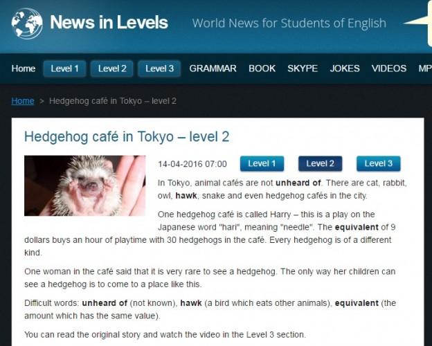 スカイプ英会話おススメニュースサイト:news-in-level