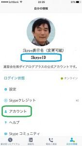 iPhoneのSkypeID確認2